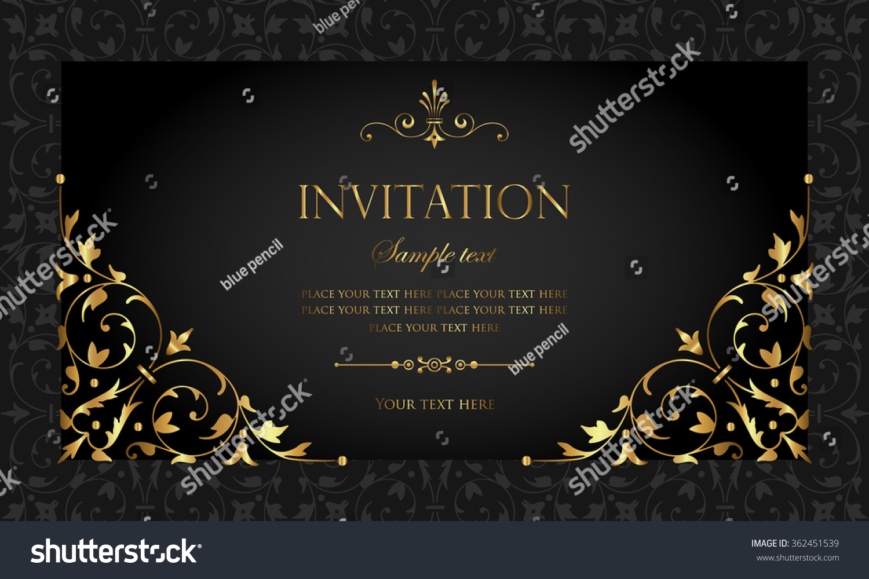 Invitation card stock vector royalty free 362451539 shutterstock invitation card stopboris Gallery