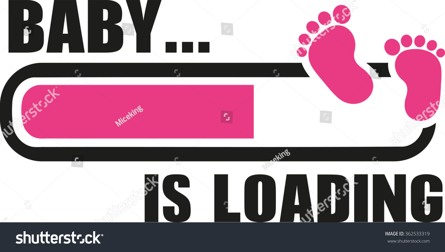 baby girl loading download bar stock vector 362533319 - shutterstock