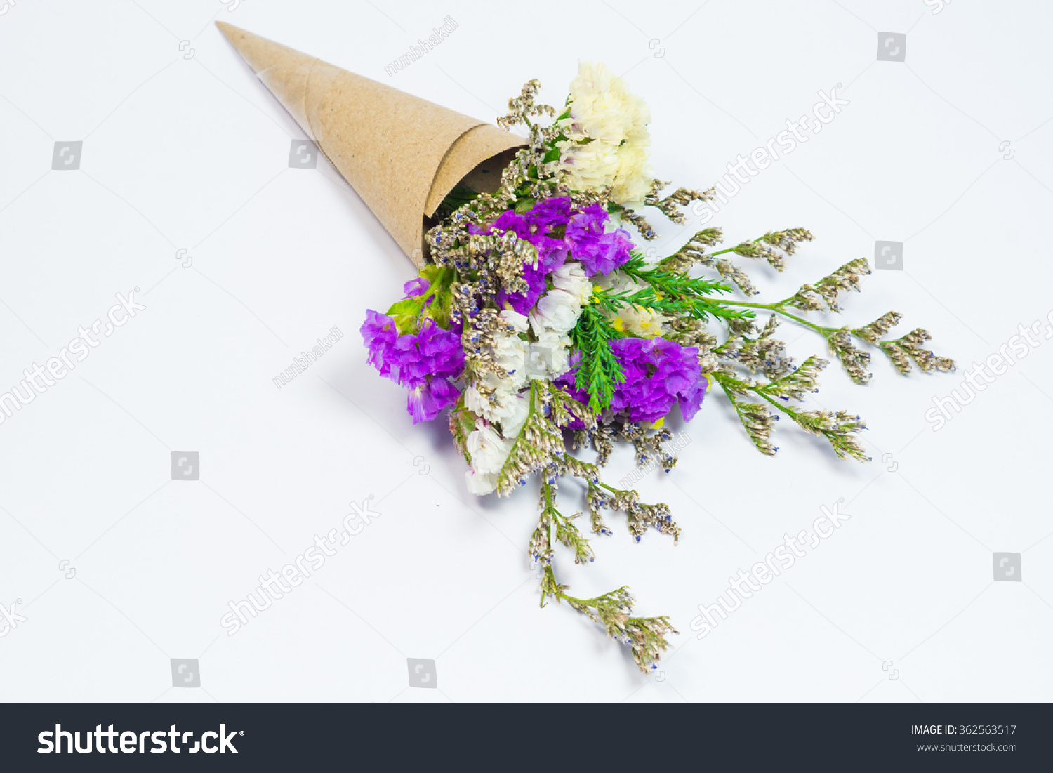 Pink yellow statice flower bouquet on stock photo safe to use pink and yellow statice flower bouquet on white background mightylinksfo