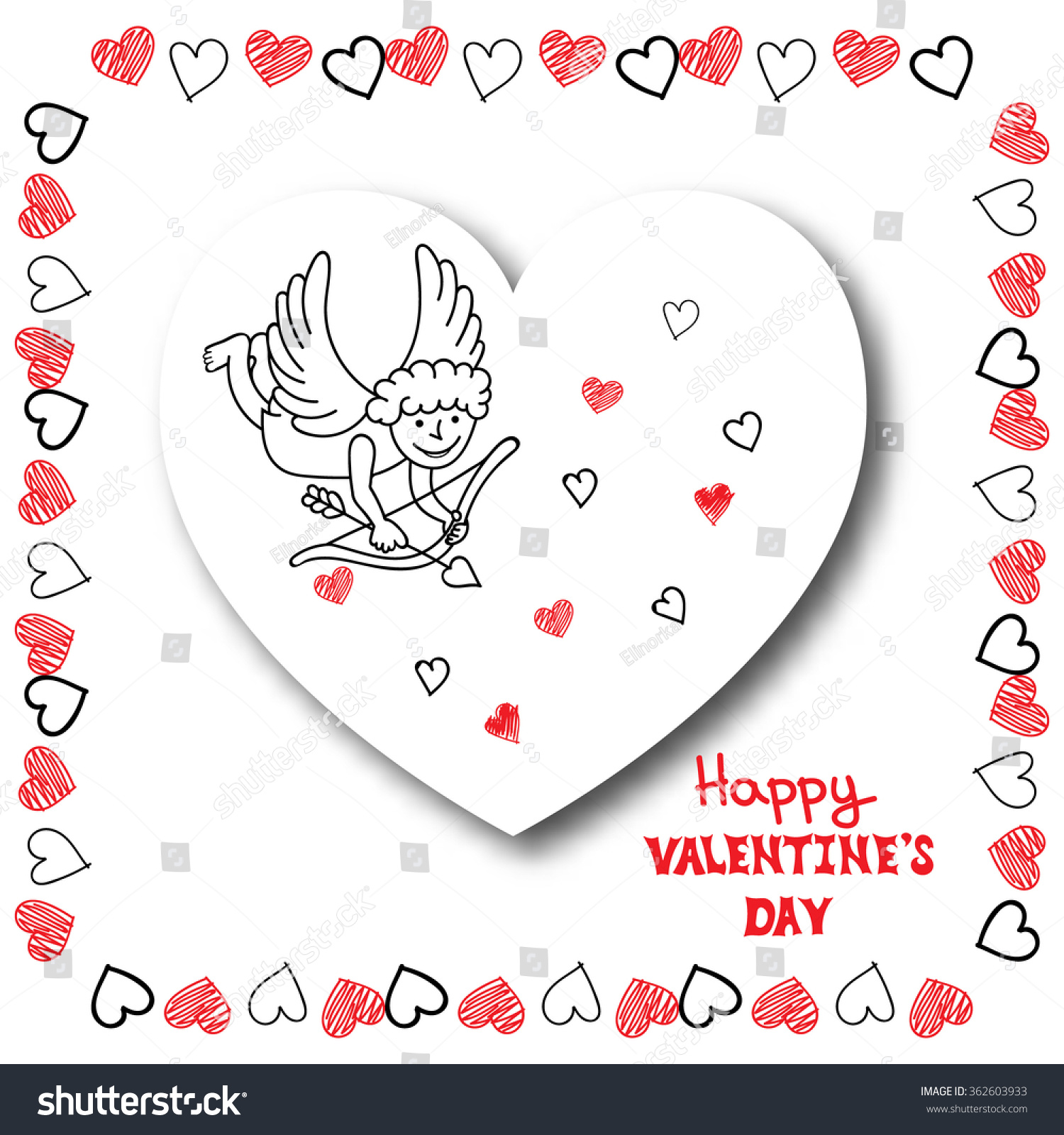 Valentines Day Card Template Eliolera – Valentine Day Cards Templates