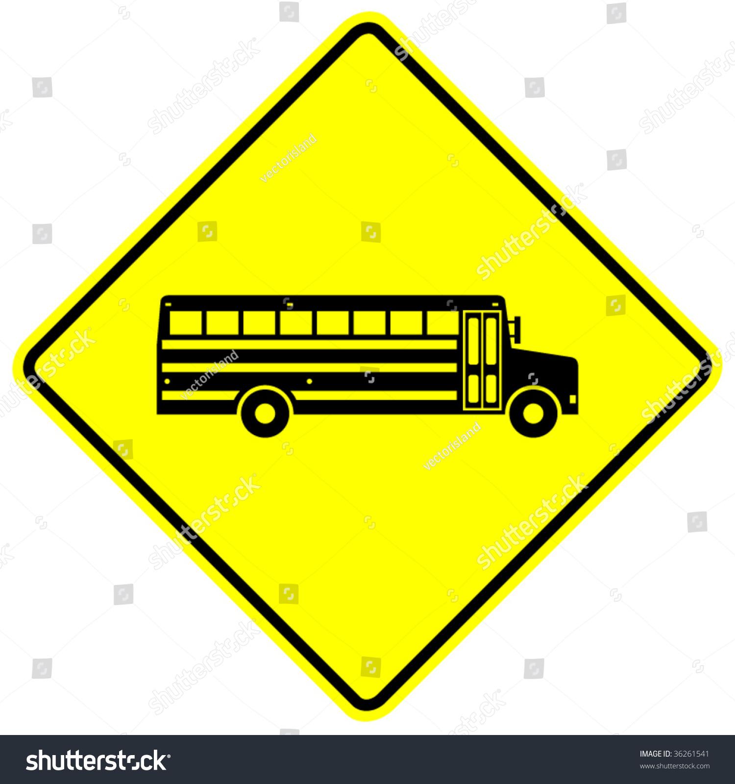 School Bus Sign Stock Vector 36261541 - Shutterstock