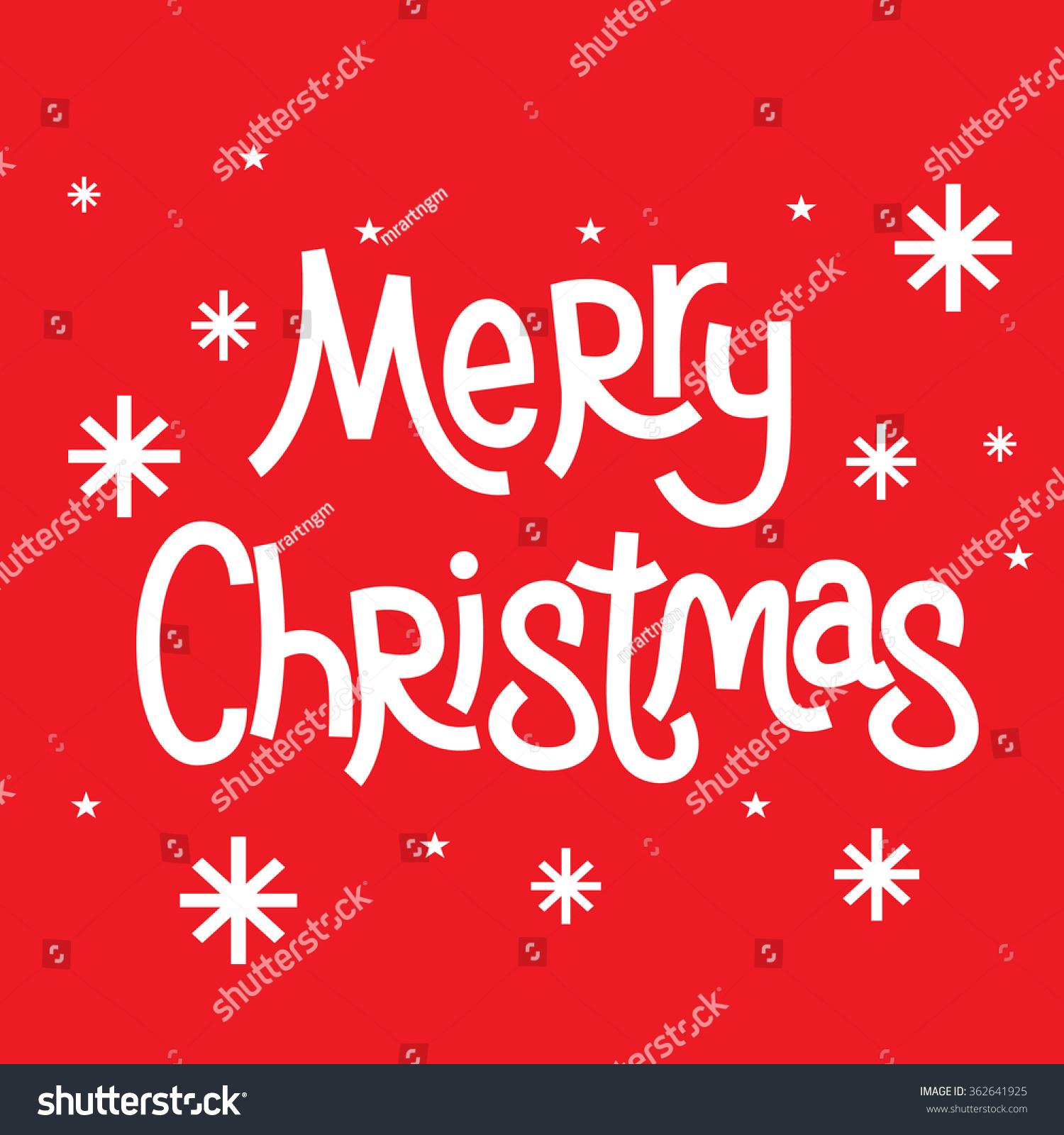 Christmas Greeting Words Merry Christmas Stock Vector 362641925