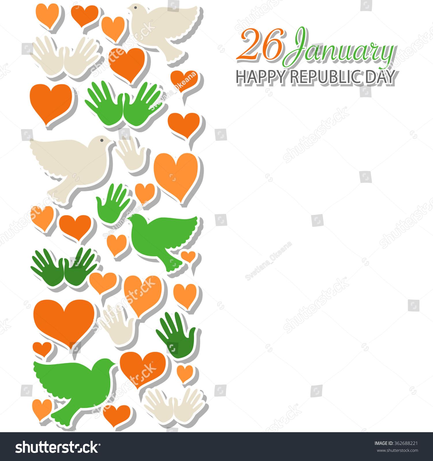 Happy Republic Day India Vector Illustration Stock Image