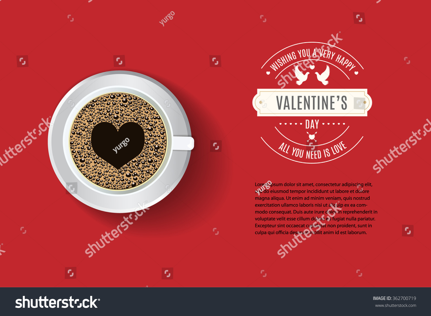 vector cafe menu flyer advertisement menu stock vector 362700719 vector cafe menu flyer advertisement menu template valentine s day greeitng sample text