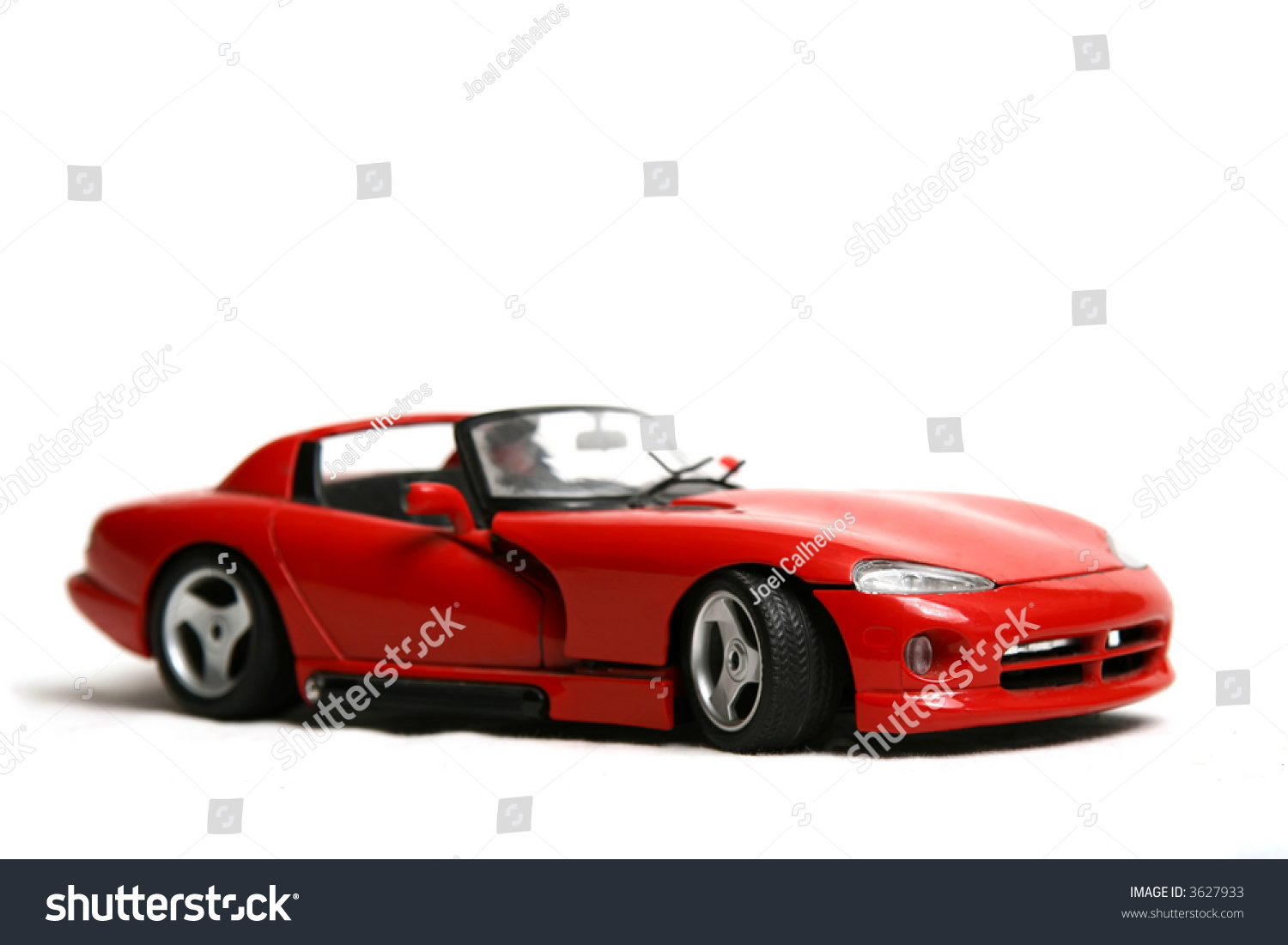 Isolated Red Sports Car On A White Background Stock Photo ...