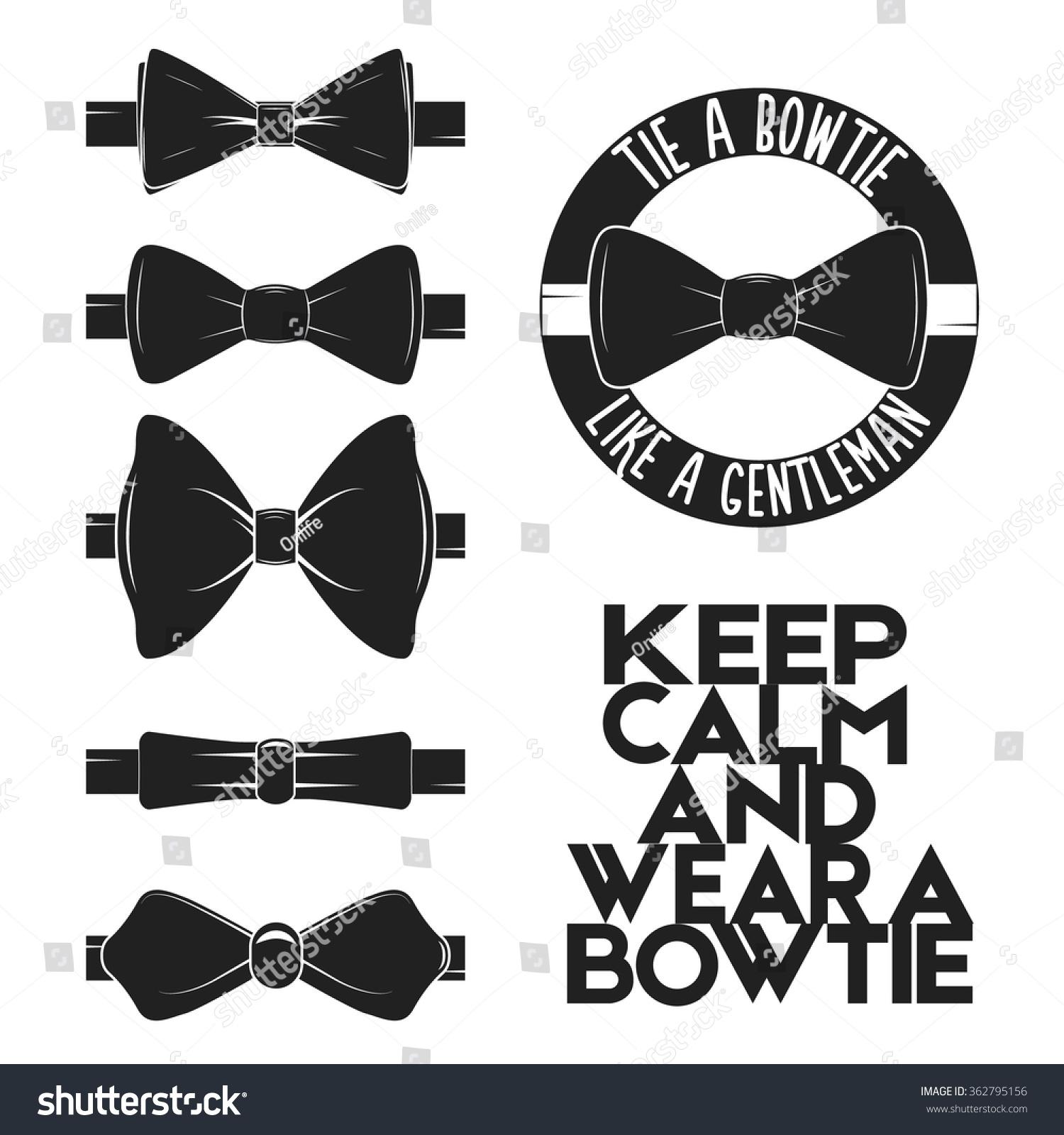 illustration set bow tie vector on stock vector 362795156