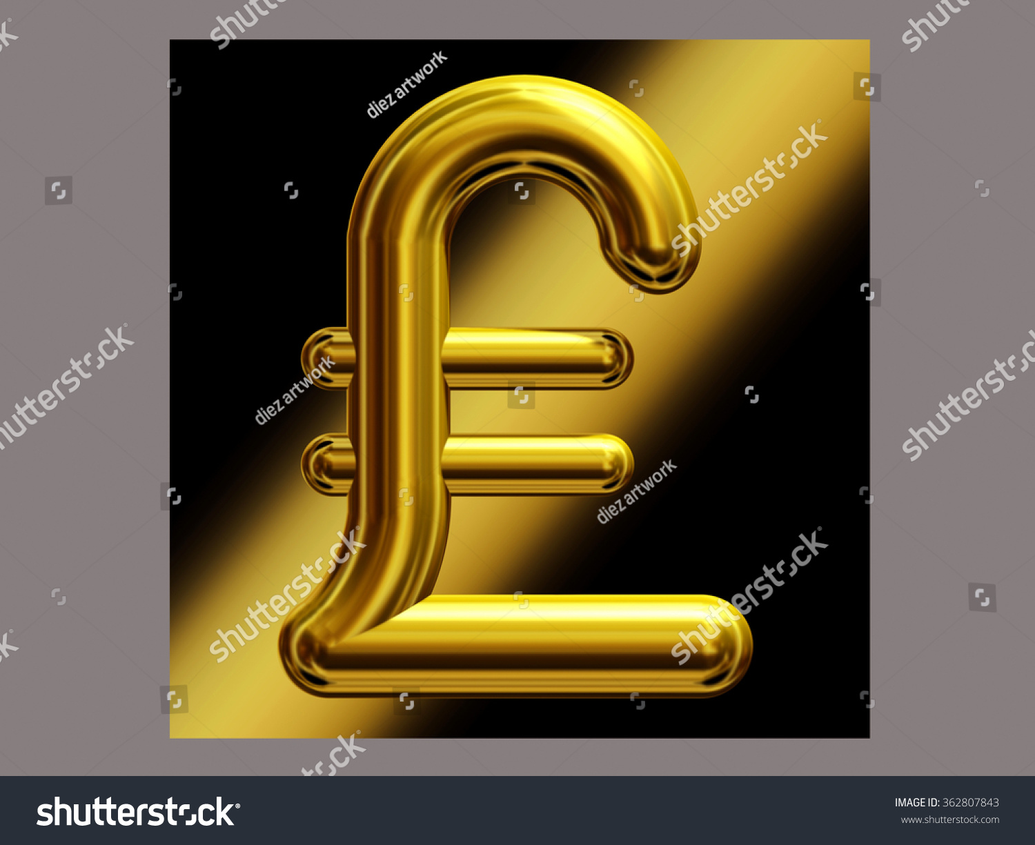 Symbol british pound currency gold stock illustration 362807843 symbol of british pound currency in gold biocorpaavc Images