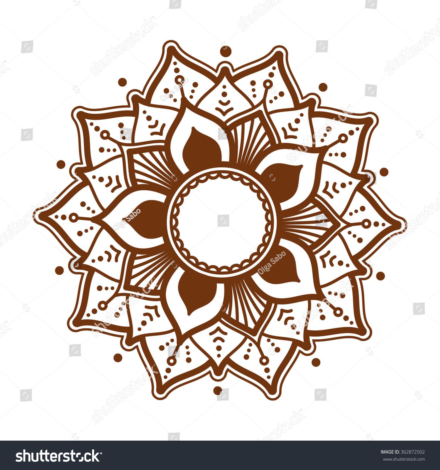 sahasrara chakra henna tattoo mehndi style stock. Black Bedroom Furniture Sets. Home Design Ideas