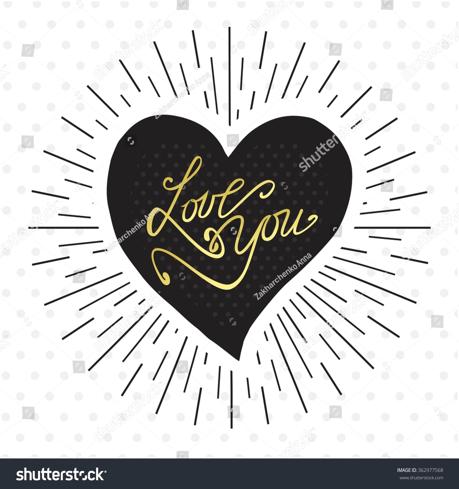 love lettering made by hand template のベクター画像素材