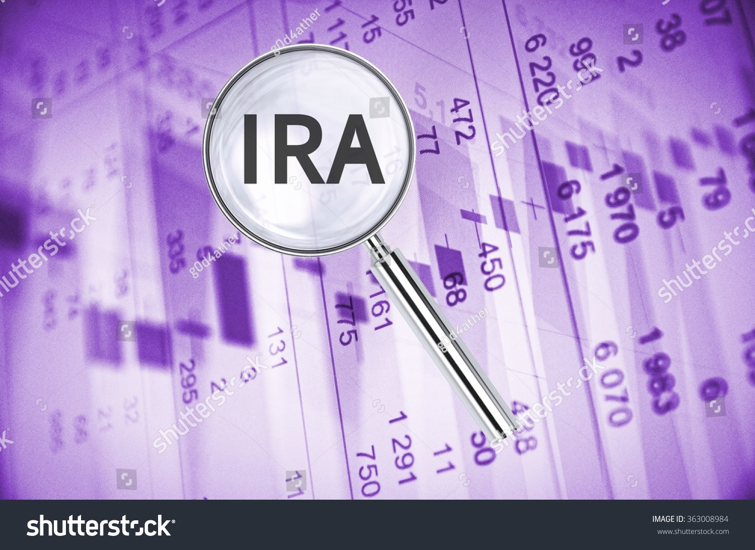 Magnifying Lens Over Background Text Ira Stock ...