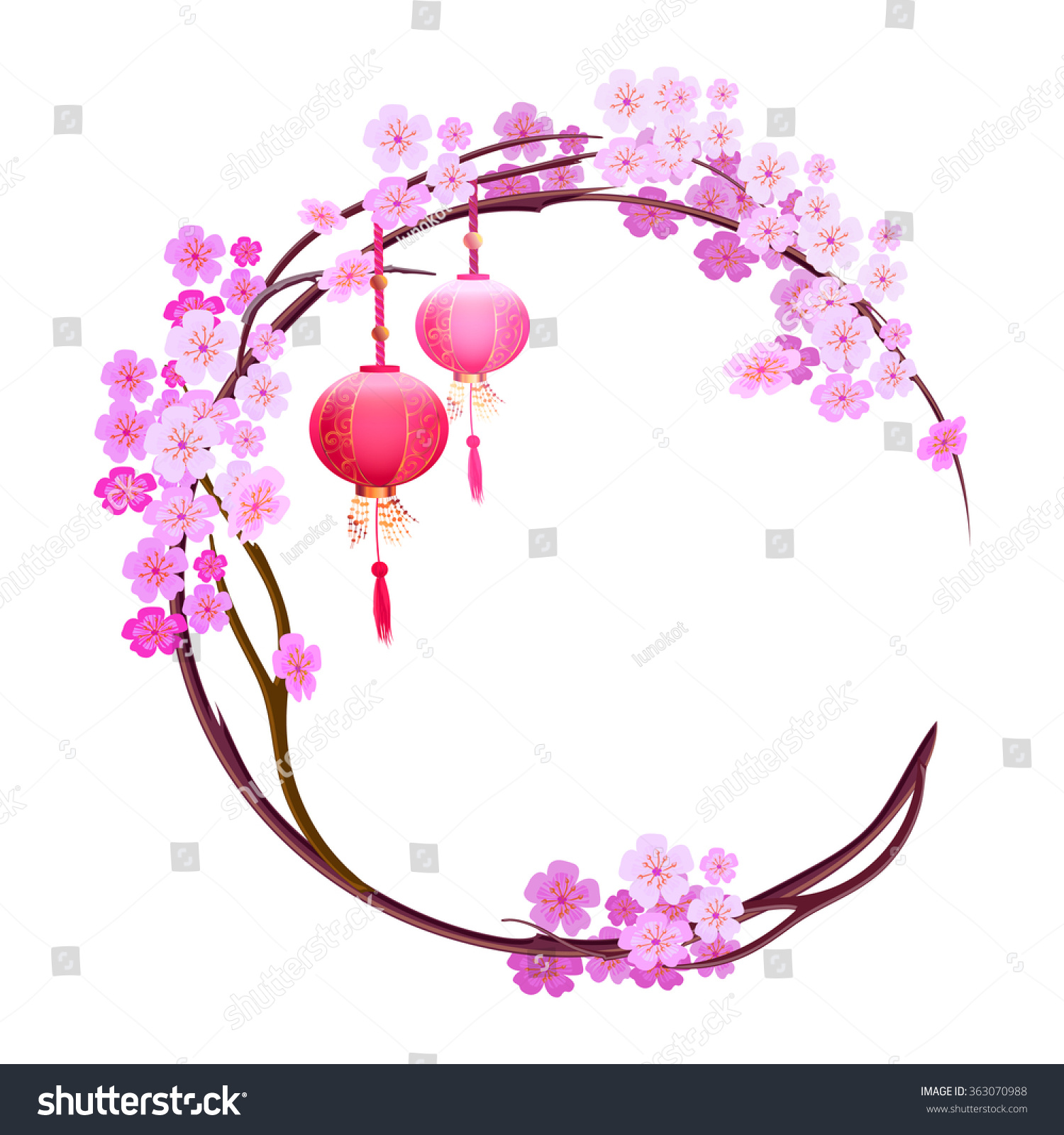 Background Cherry Blossoms Spring Japanese Festival Stock Vector ...