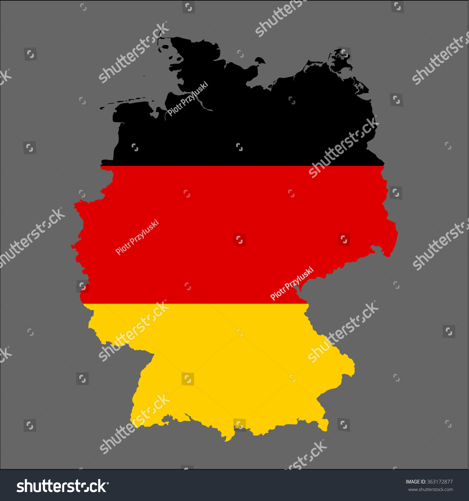 Map Of Germany 3d.Germany 3 D Map Flag Stock Vector Royalty Free 363172877