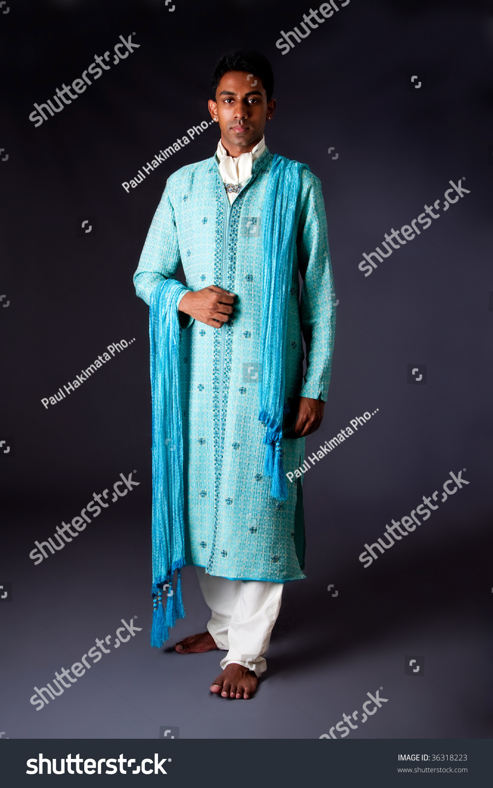 Beautiful Authentic Indian Hindu Man Typical Stock Photo (Royalty ...