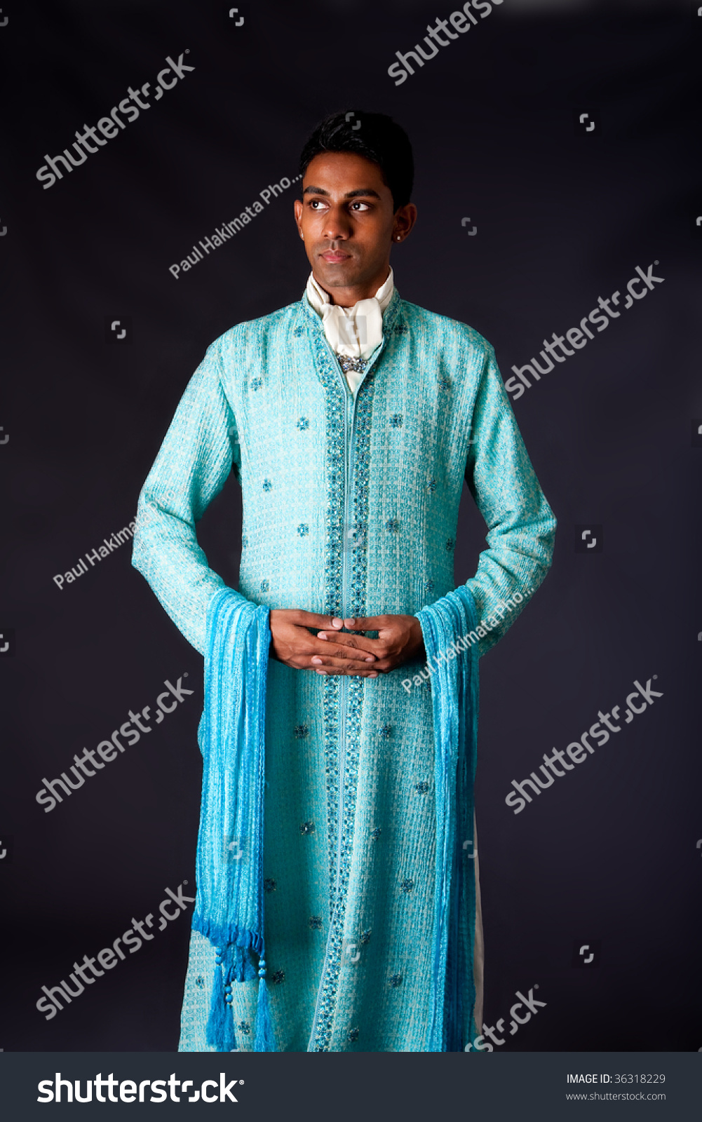 Beautiful Authentic Indian Hindu Man Typical Stock Photo (100% Legal ...
