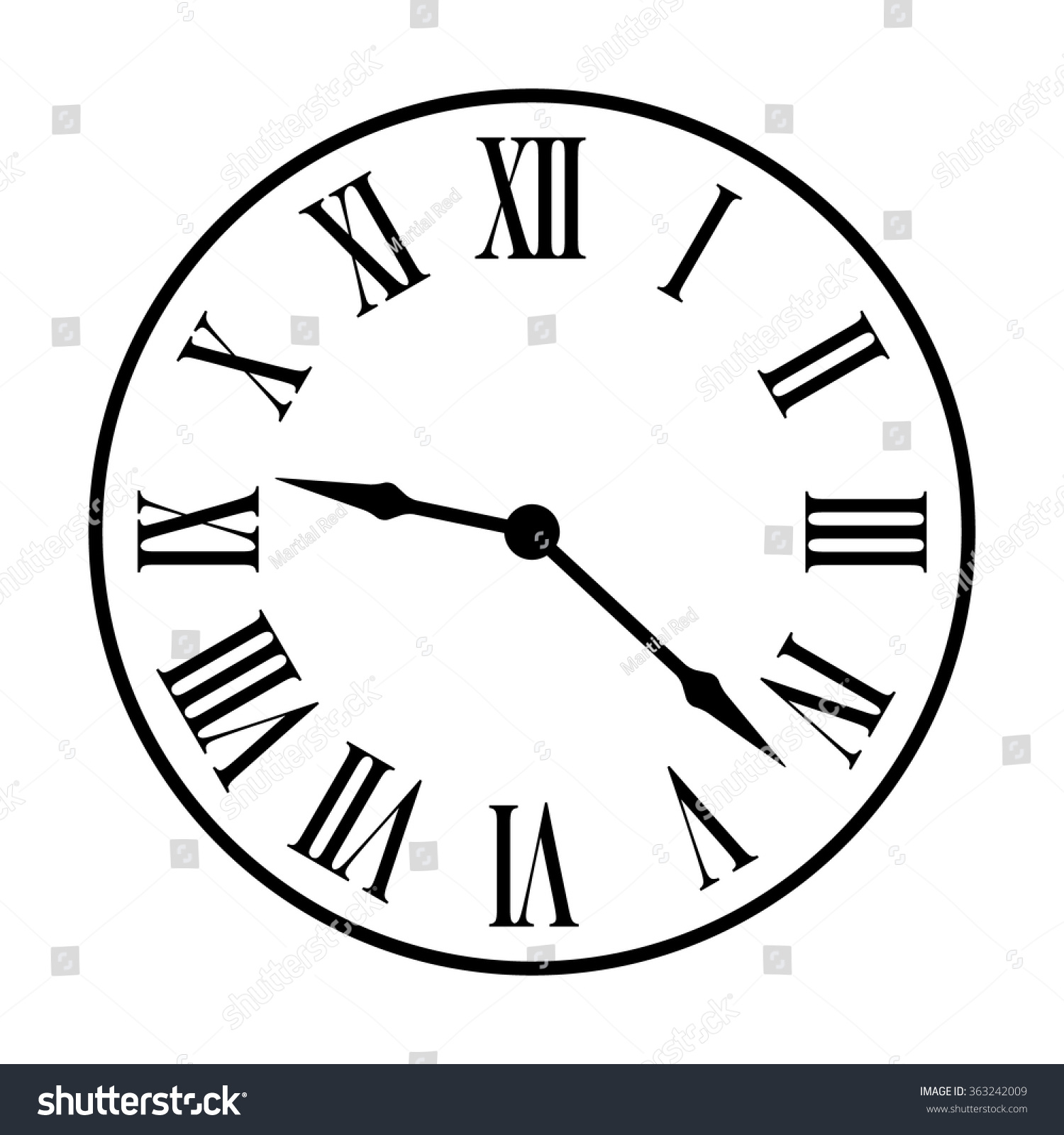 Line Drawing Clock Face : Old fashion vintage clock face line art icon for apps and