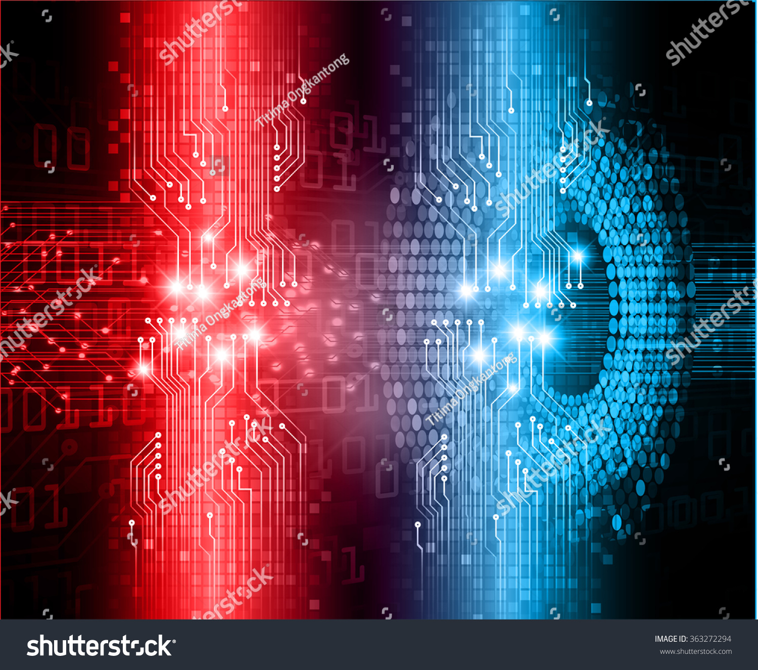 Dark Red Blue Light Abstract Technology Stock Vector