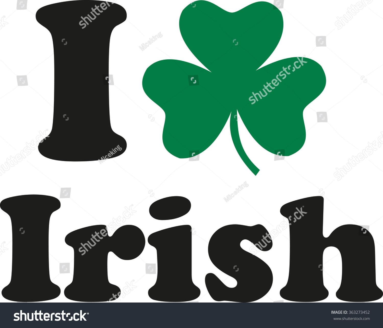 Love Irish Shamrock Stock Vector Royalty Free 363273452 Shutterstock