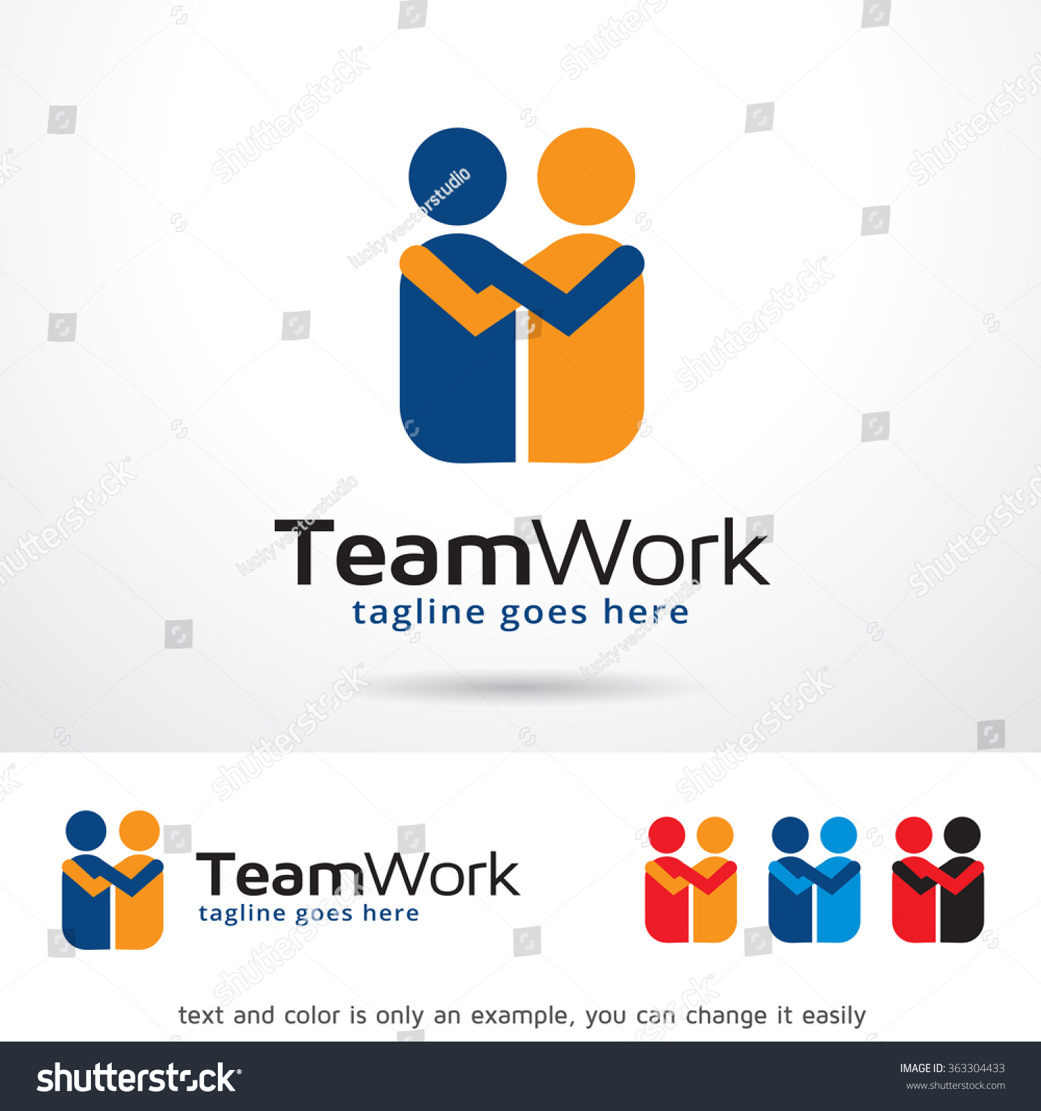 team work logo template design vector stock vector  team work logo template design vector