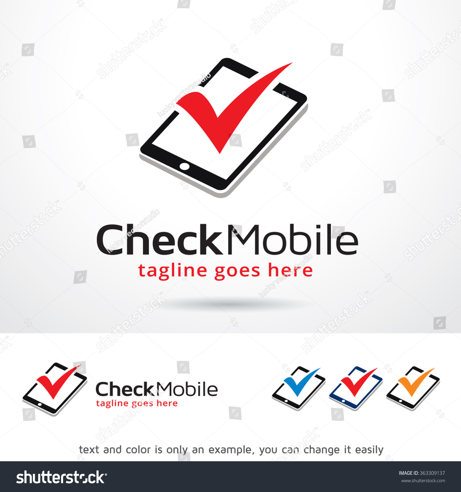 Check Mobile Logo Template Design Vector Stock Vector ...