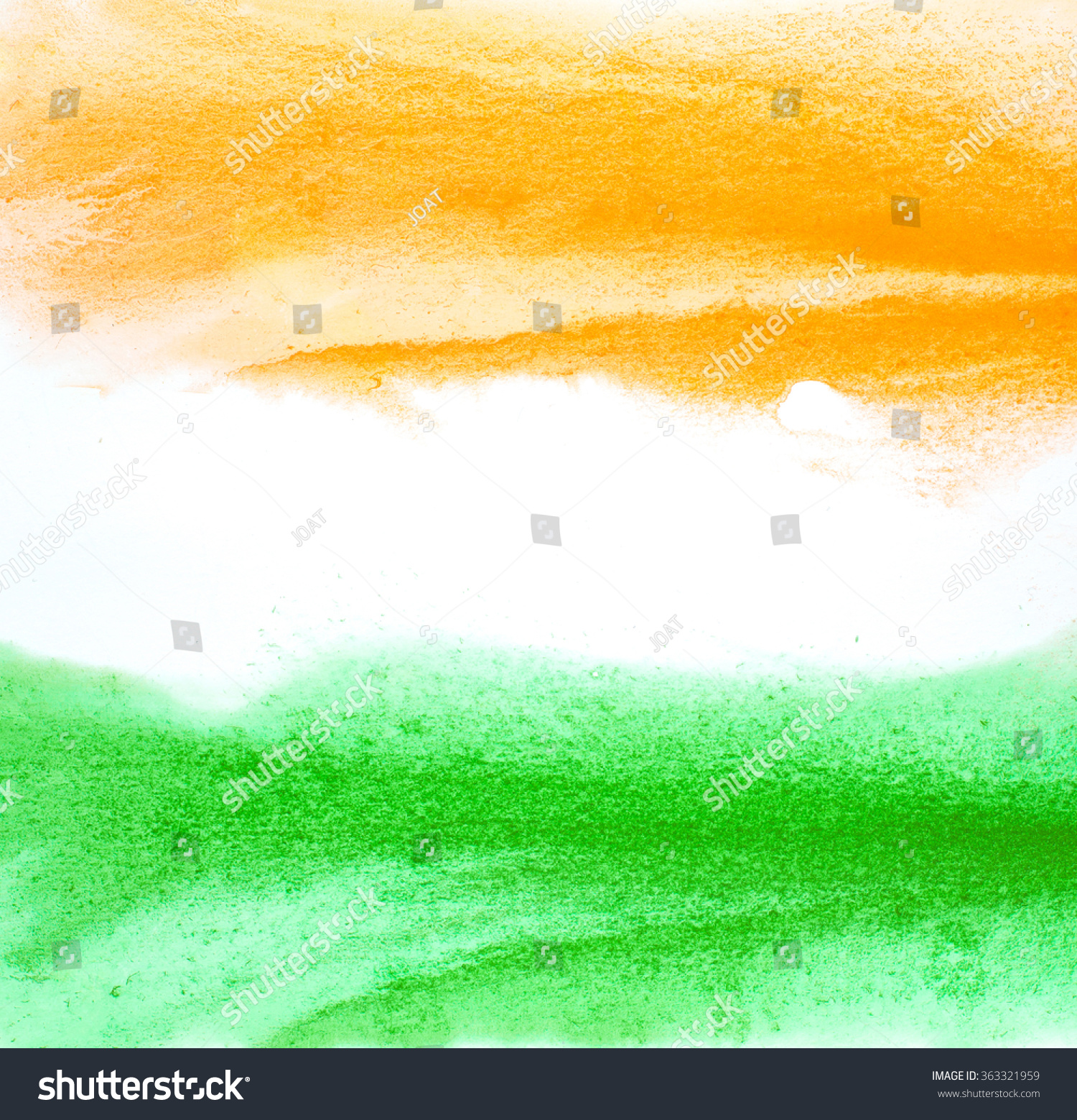 Painted Indian Flag Colors Abstract Water Stock Illustration ...