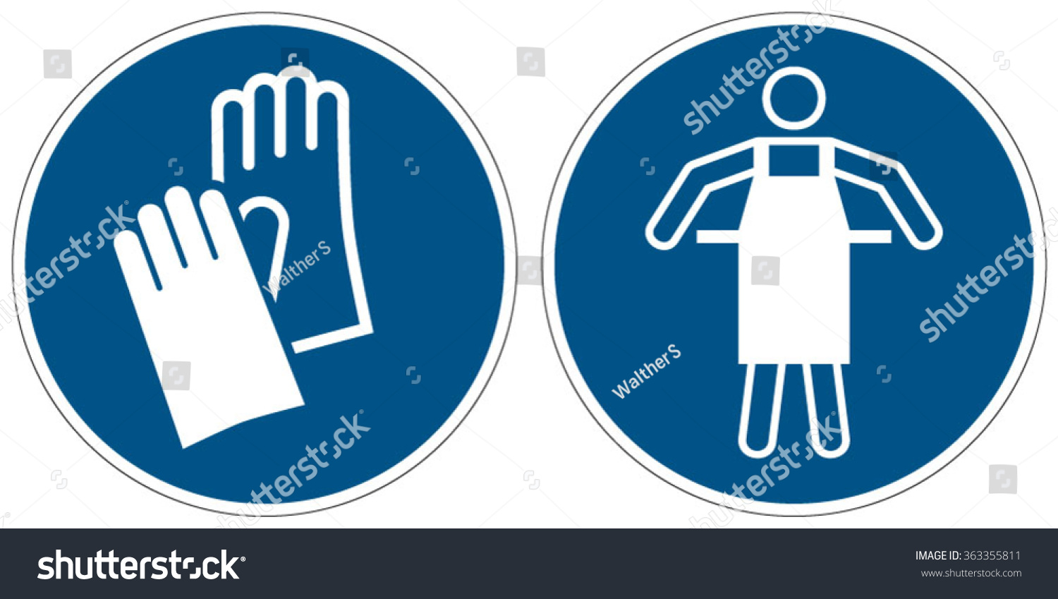 Wear Protective Gloves Use Protective Apron Stock Vector 363355811