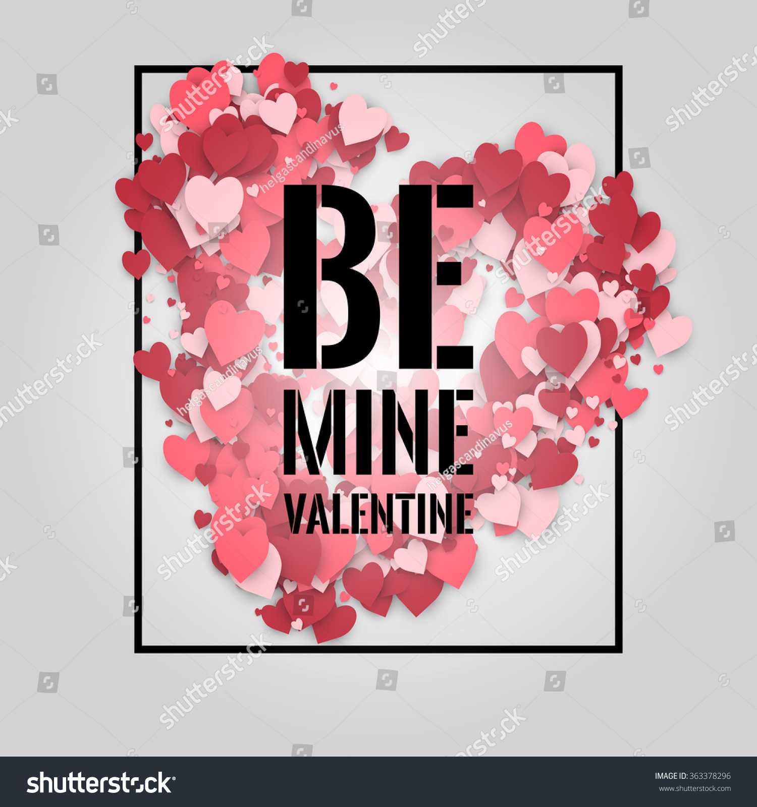 be mine valentine abstract background flying stock vector