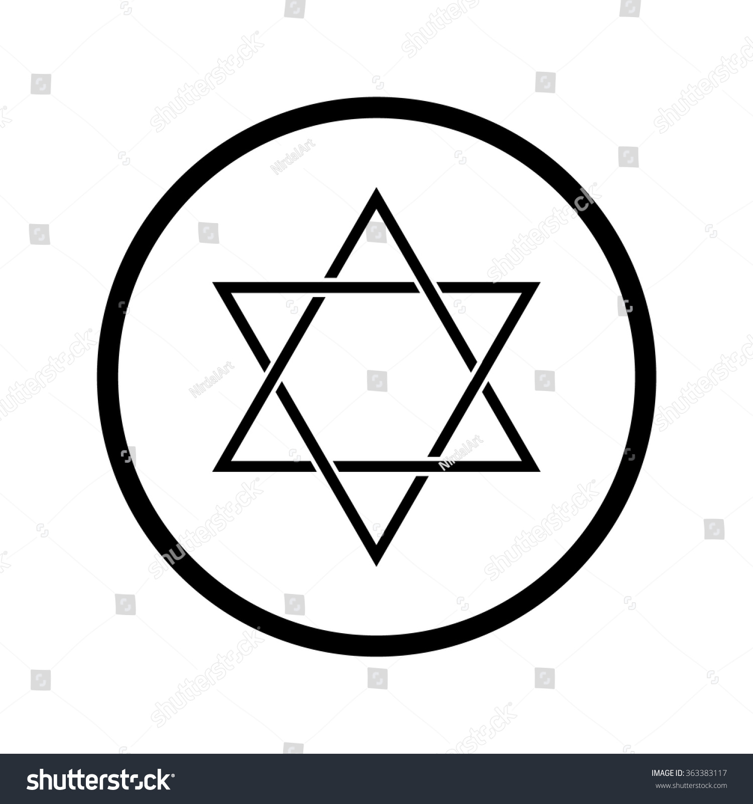 Star David Symbol Judaism Stock Vector 363383117 Shutterstock