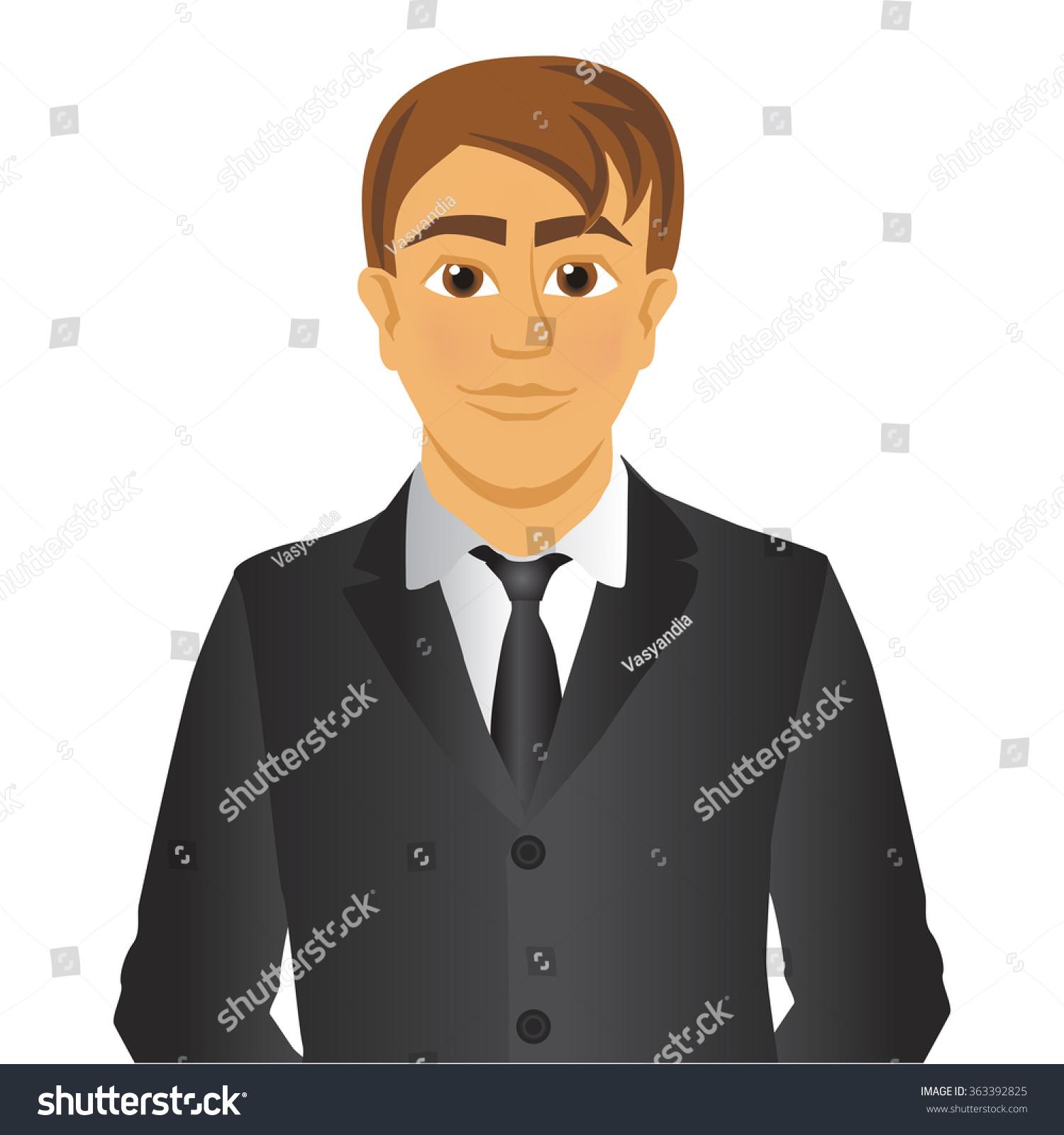Cartoon Characters In Suits : Vector cartoon character man suit tie stock