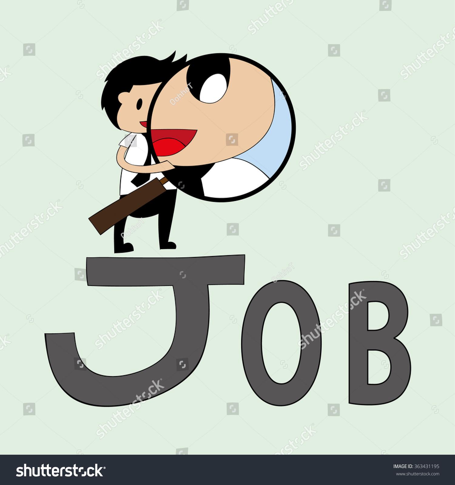 cartoon business man new job stock vector  cartoon business man new job zoom lens
