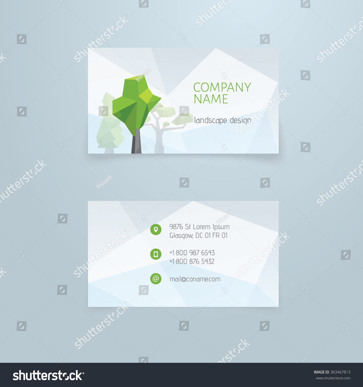 Business Card Template Front Back Side Stock Vector 363467813 ...