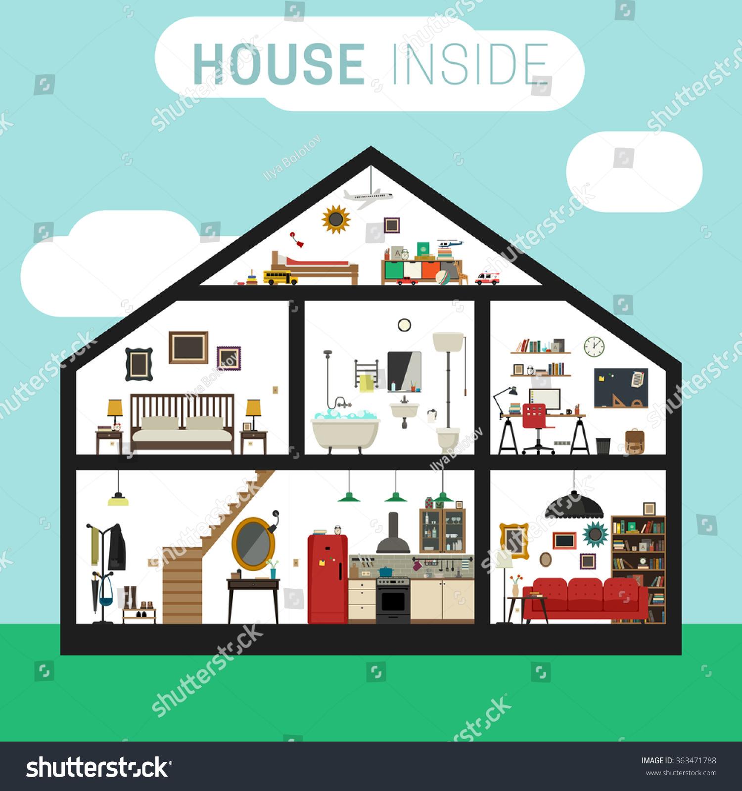 House inside interior