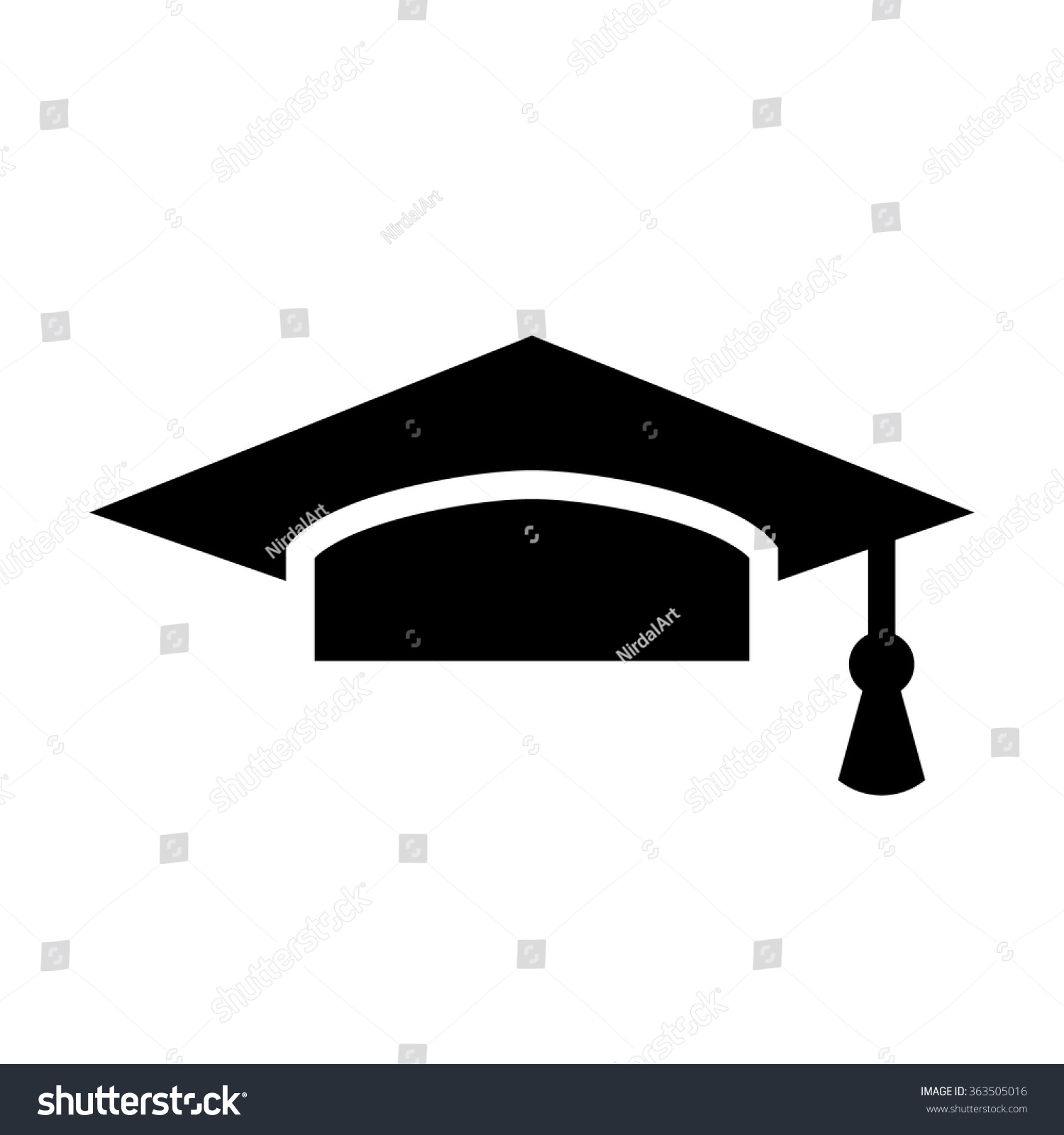 Graduation Cap Vector Icon - 363505016 : Shutterstock