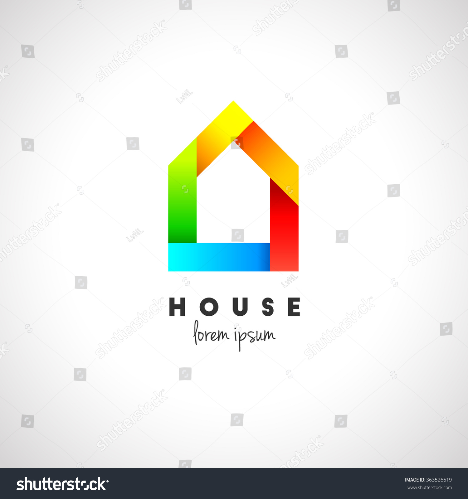 Creative house logo design modern style stock vector for Modern house logo