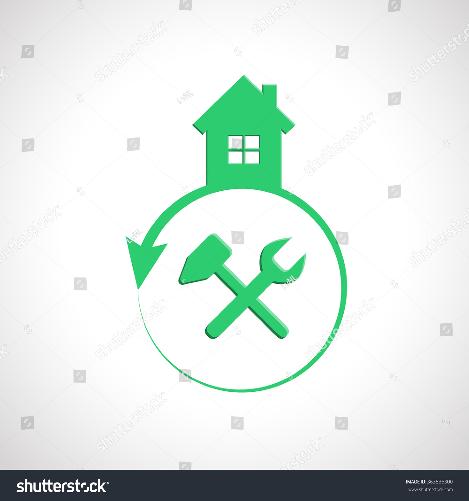 House logo design tools building maintenance stock vector for Home architecture tools