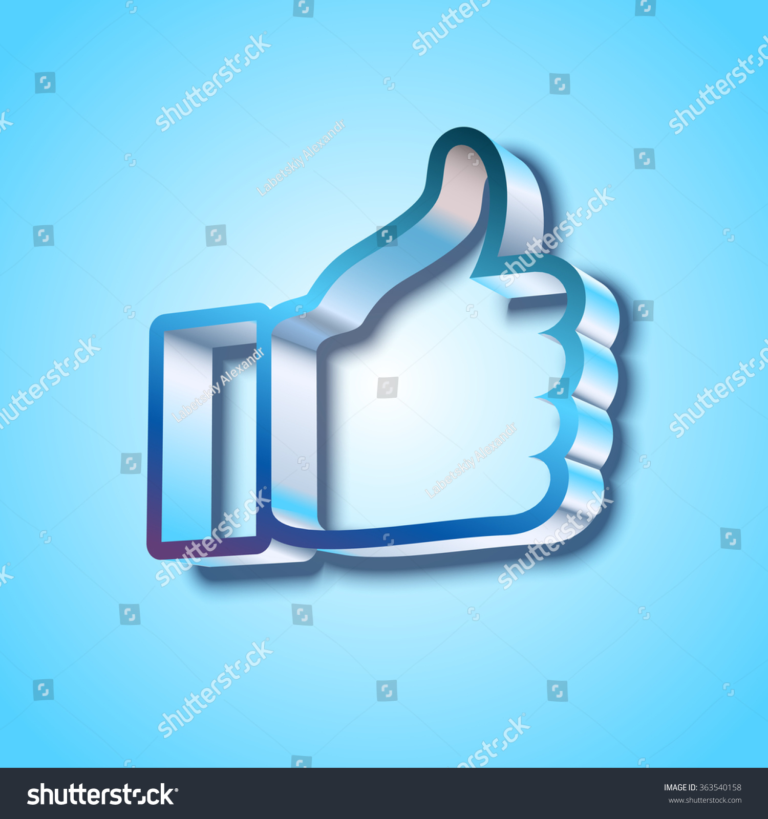 Like symbol on blue background stock vector 363540158 shutterstock like symbol on blue background buycottarizona Choice Image