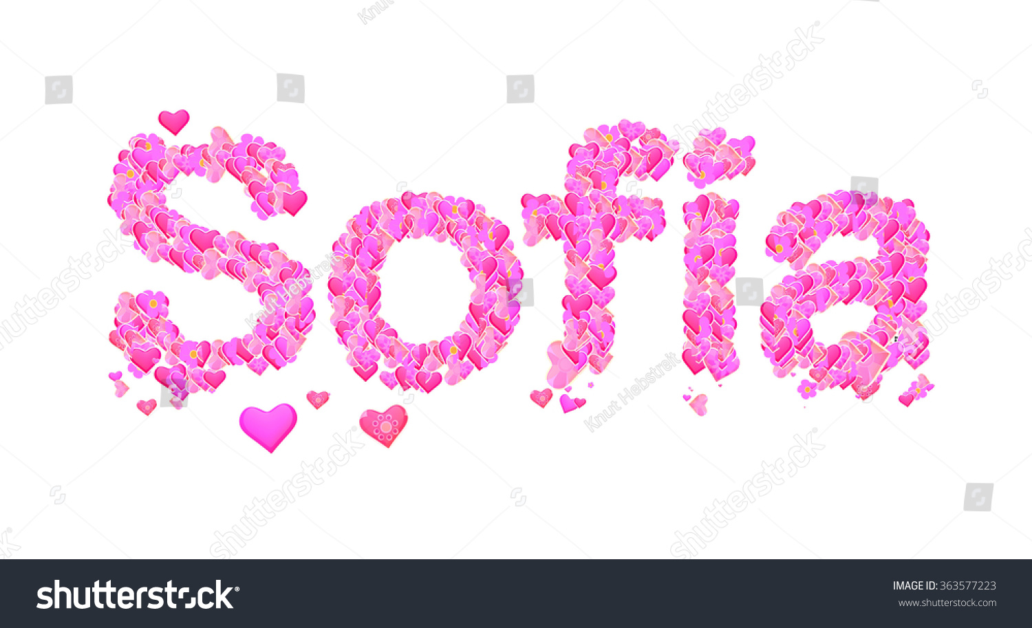 Image Gallery sofia name : stock photo sofia name set with hearts decorative lettering type design 363577223 from keywordsuggest.org size 1500 x 913 jpeg 409kB
