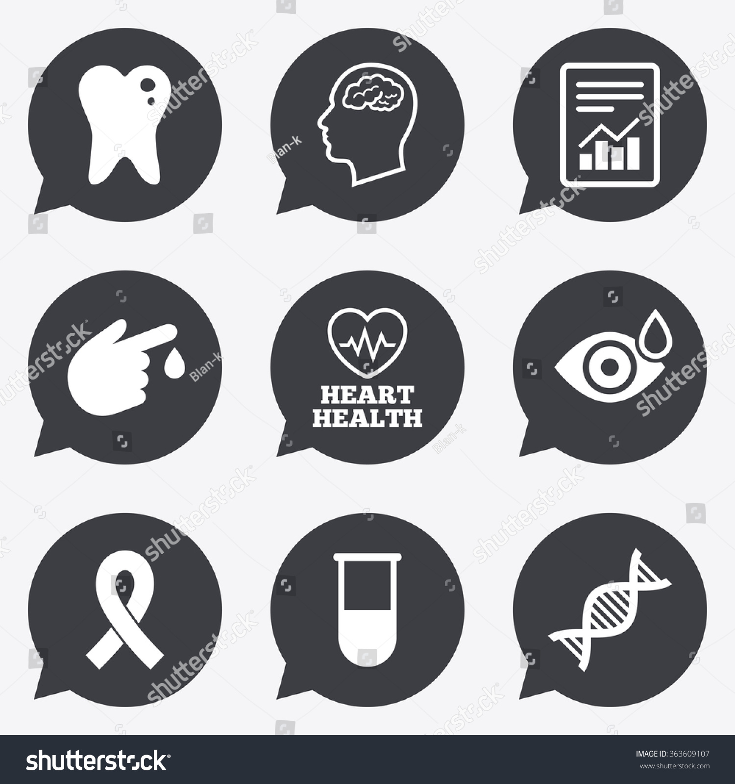 Medicine Medical Health Diagnosis Icons Blood Stock Illustration