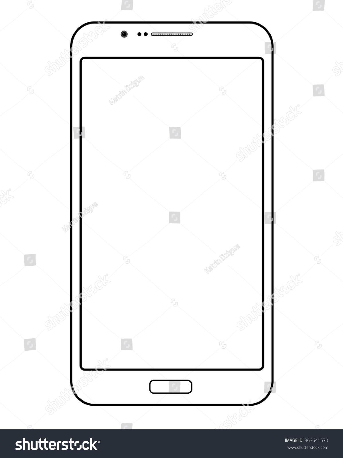 Smart Phone Template Stock Photo (Photo, Vector, Illustration ...