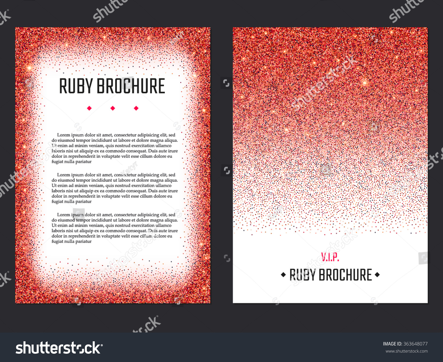 Vector Illustration Ruby Brochure Design Website Stock Vector ...