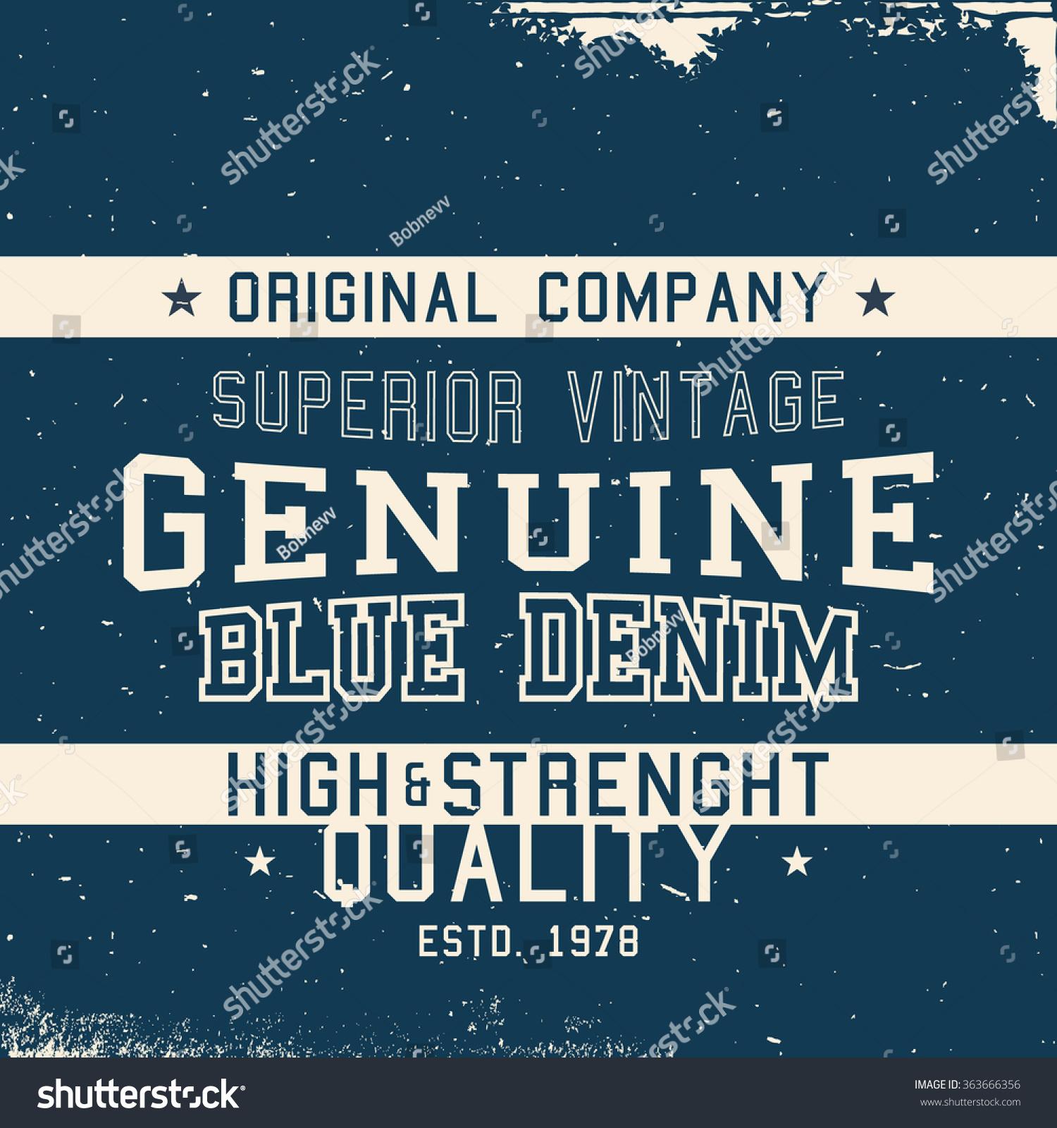 Poster design jeans - T Shirt Print Design Vintage Jeans Denim Label Vector Illustration
