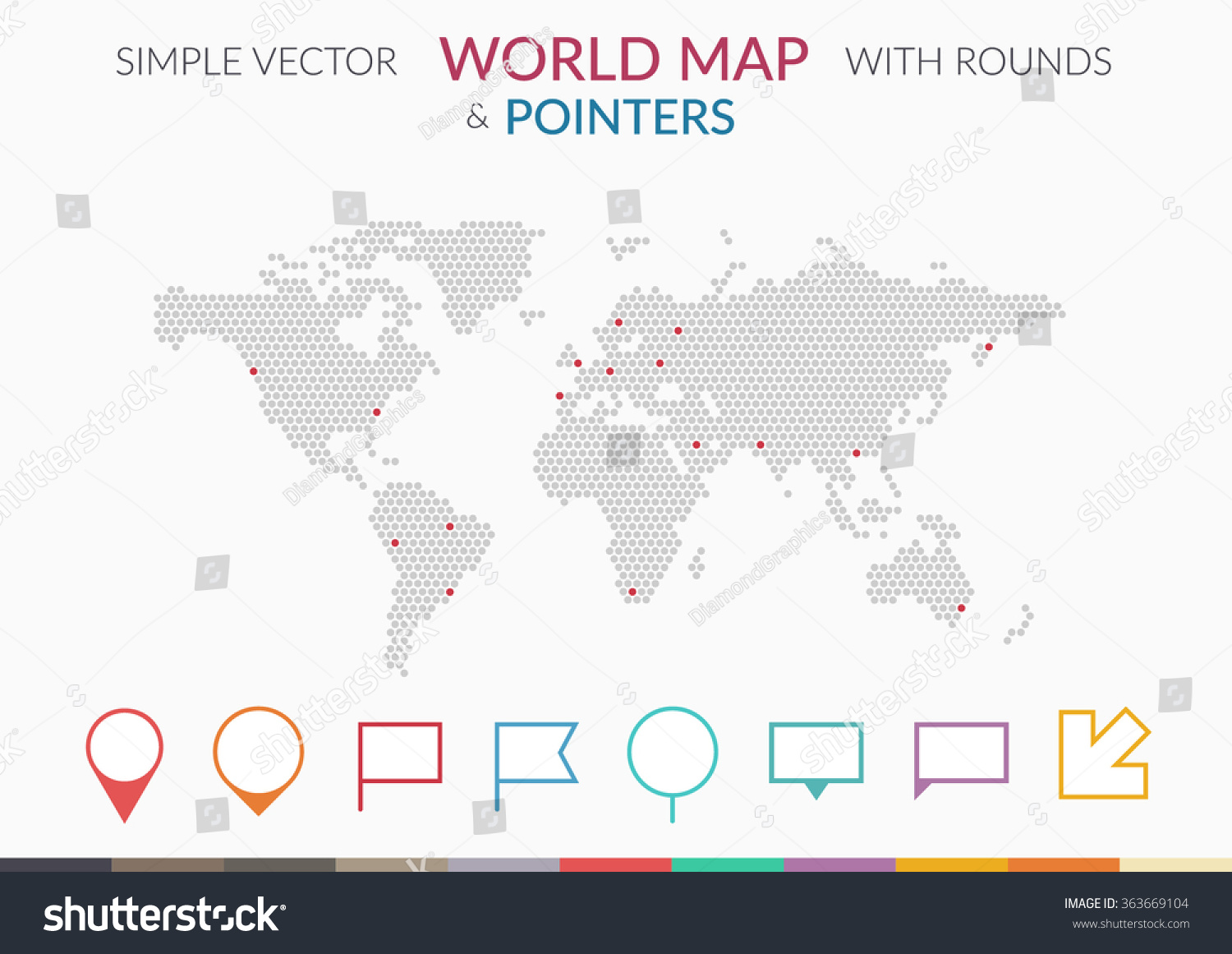 Set infographics elements world map pointers stock vector set of infographics elements world map and pointers arrow and flags vector illustration gumiabroncs Images