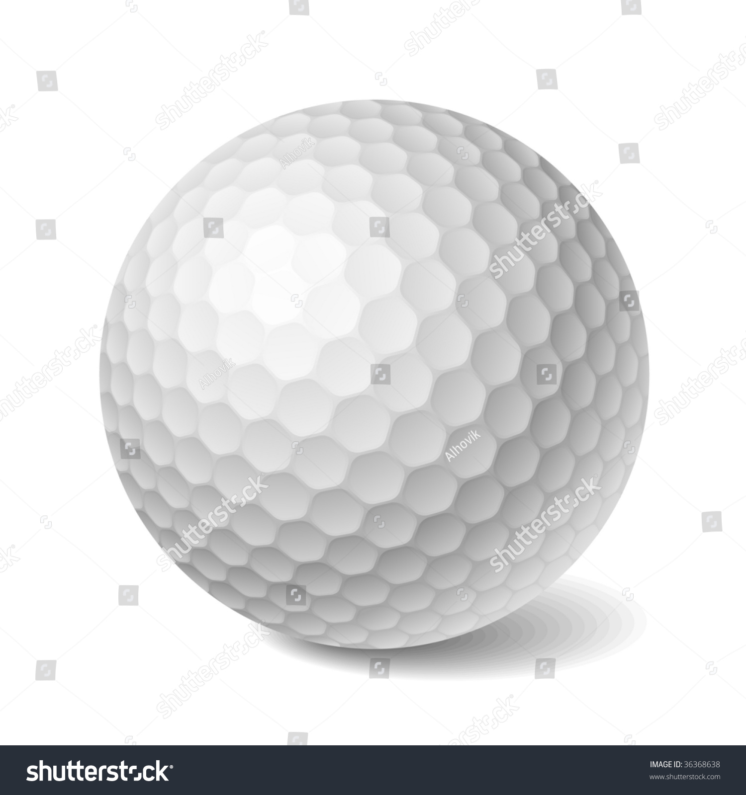 Golf Ball Selection Stock Vector Golf Ball Vector