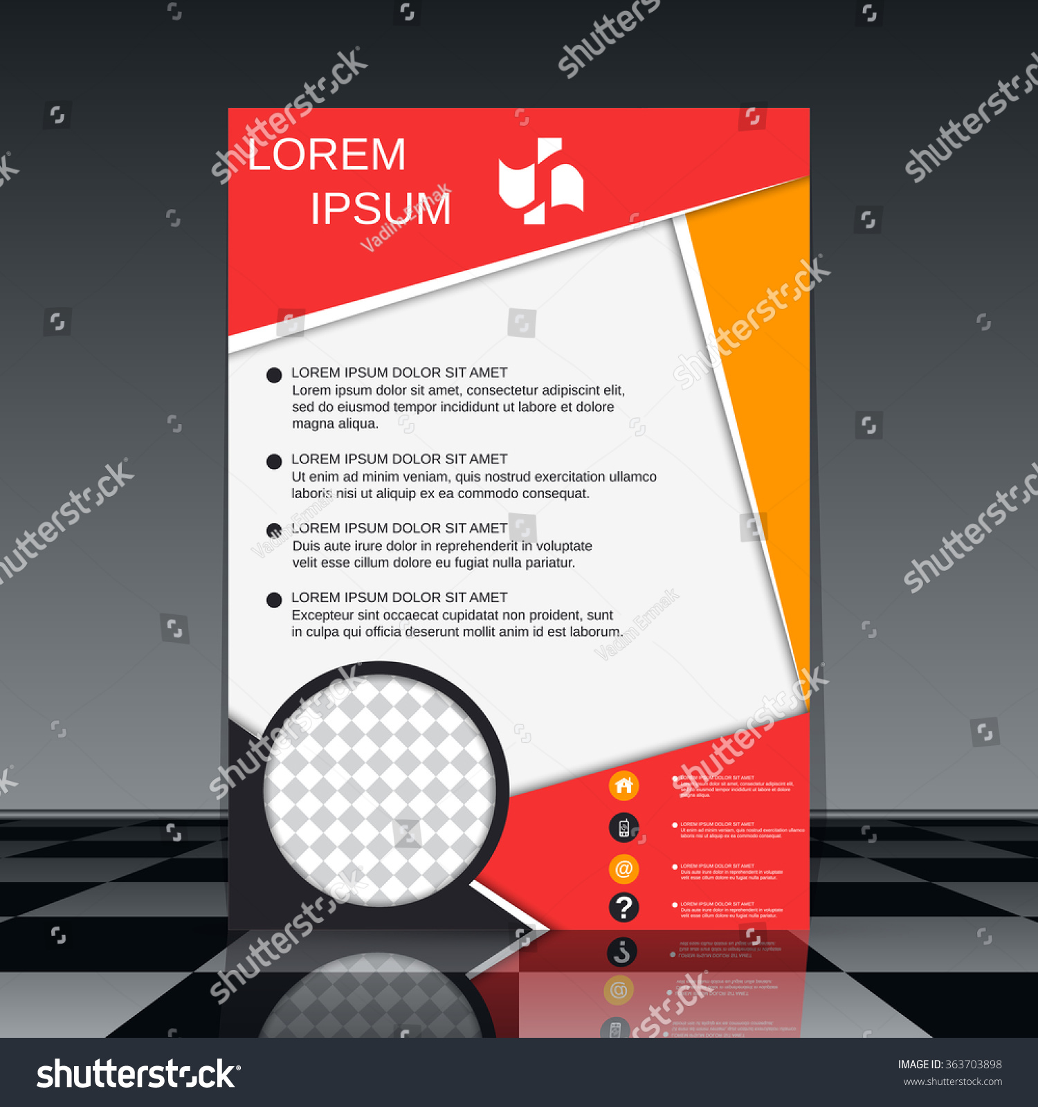 professional flyer template brochure mockup business stock vector professional flyer template brochure mockup business report magazine cover placard