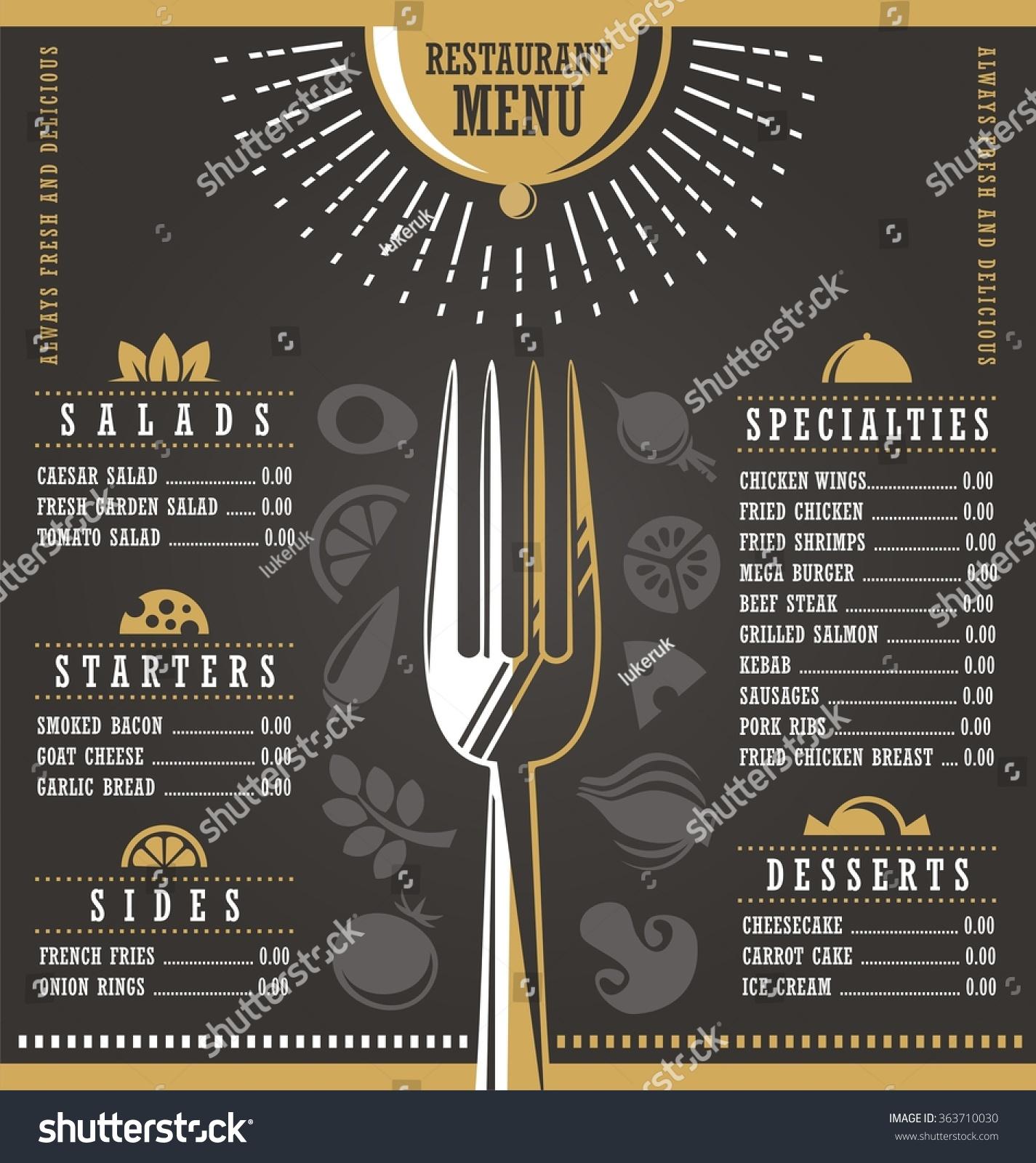 royalty-free restaurant menu design. abstract menu… #363710030 stock