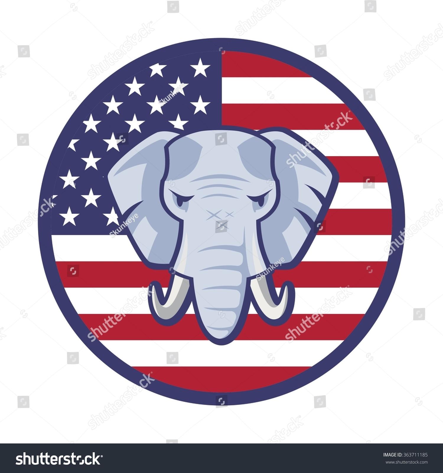 American Republican Party Election Elephant Symbol Vector ...