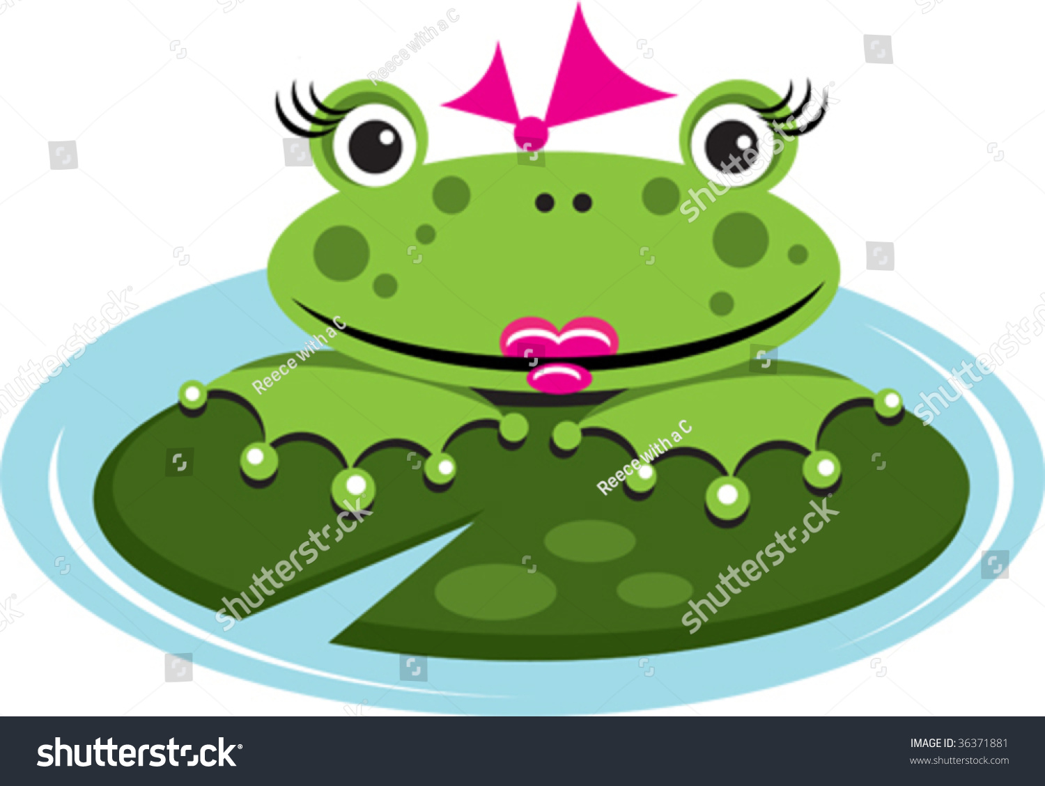 vector frog on lily pad stock vector 36371881 shutterstock