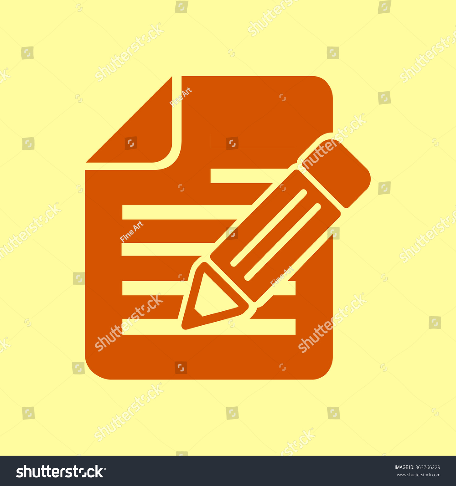 Document pen icon stock vector 363766229 shutterstock document with pen icon biocorpaavc Choice Image