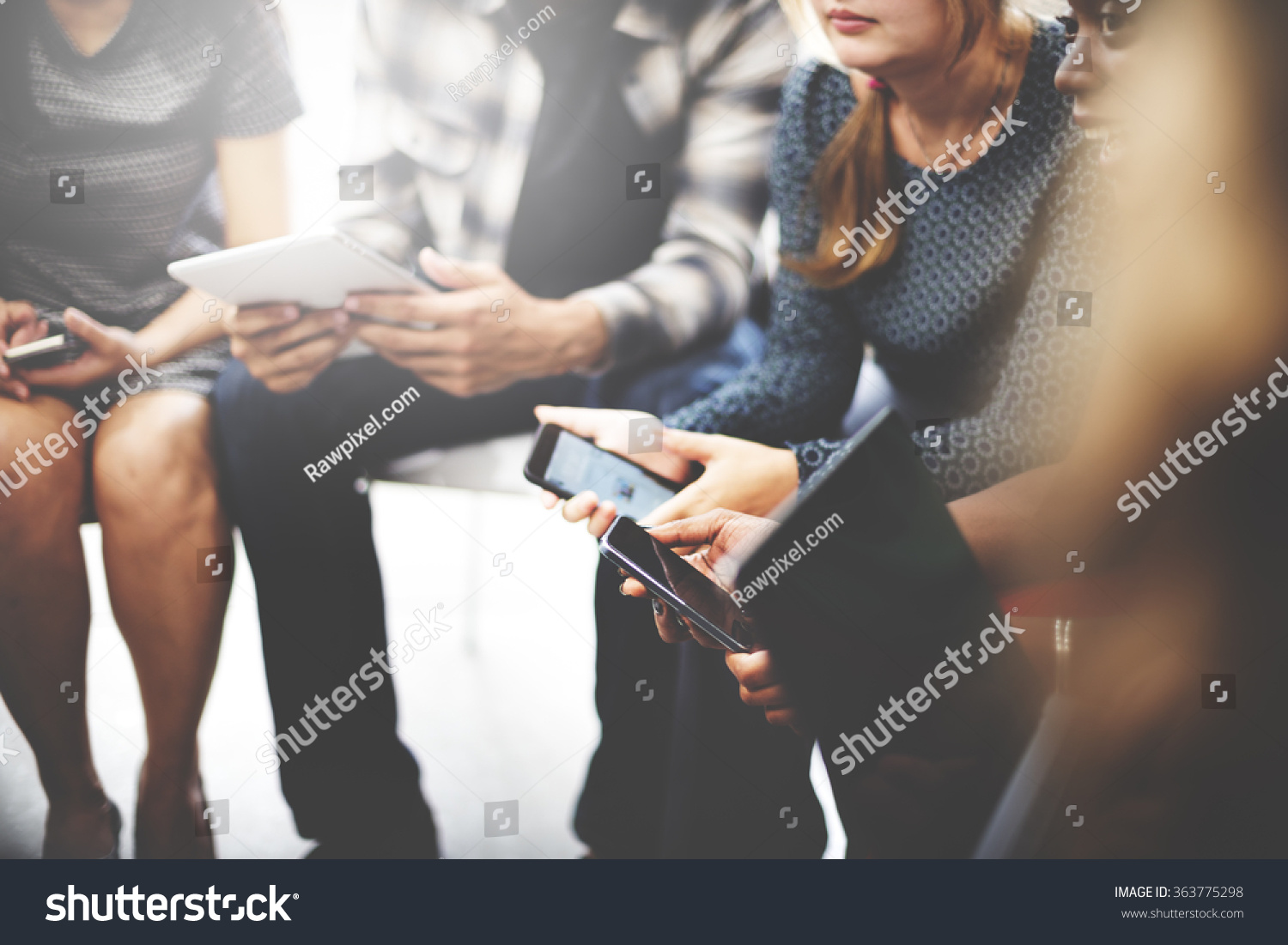 Business Team Digital Device Technology Connecting Concept
