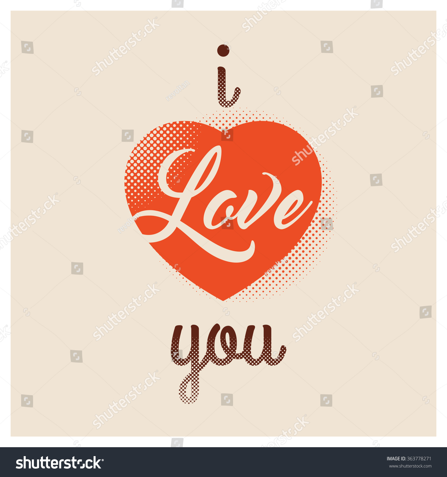 Love you valentine greeting words stock vector 363778271 shutterstock valentine greeting words kristyandbryce Images