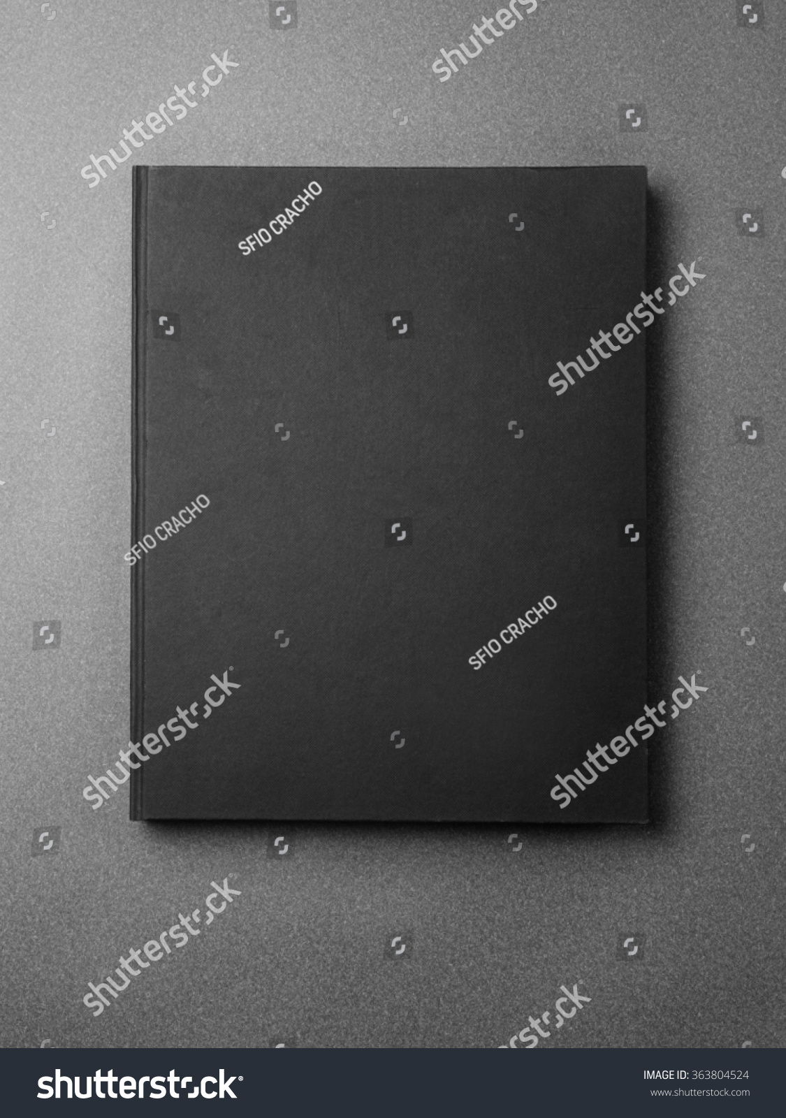 Black Book Cover Backgrounds : Black book cover on the gray background stock photo